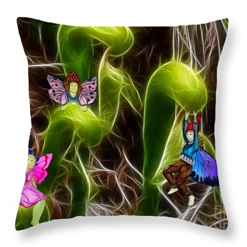 The Fairy's Playground Throw Pillow by Methune Hively