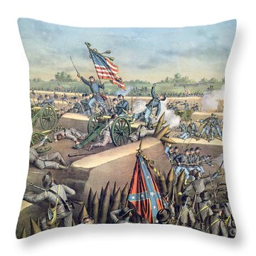 The Fall Of Petersburg To The Union Army 2nd April 1965 Throw Pillow by American School