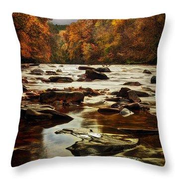 The Fall On The River Avon  Throw Pillow by John Farnan