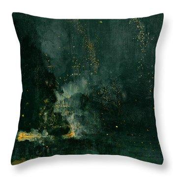 The Falling Rocket Throw Pillow by James Abbott Whistler