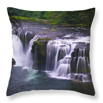 Throw Pillow featuring the photograph The Falls by David Gleeson