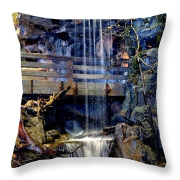 Throw Pillow featuring the photograph The Falls by Deena Stoddard