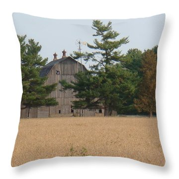 Throw Pillow featuring the photograph The Farm by Bonfire Photography