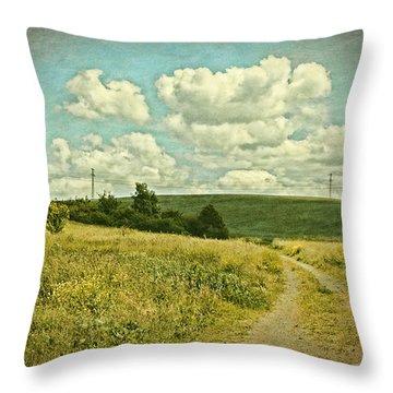 The Farm Road Throw Pillow