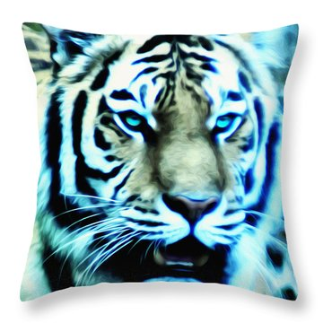 The Fierce Tiger Throw Pillow by Bill Cannon