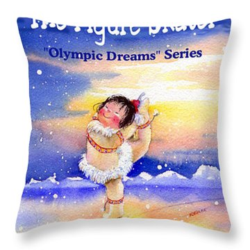The Figure Skater - Cover Throw Pillow