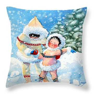 The Figure Skater 3 Throw Pillow