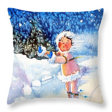 The Figure Skater 5 Throw Pillow by Hanne Lore Koehler