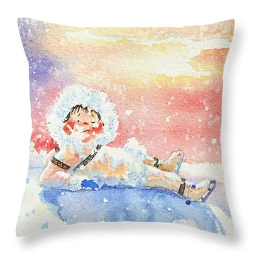 The Figure Skater 6 Throw Pillow
