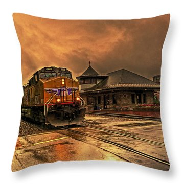Throw Pillow featuring the photograph The Five-fifteen by William Fields