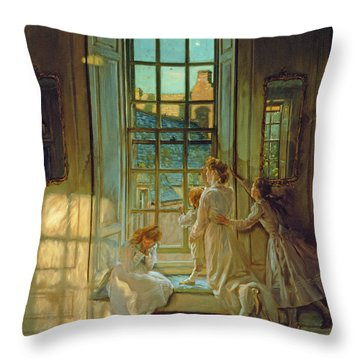 The Flight Of The Swallows Throw Pillow