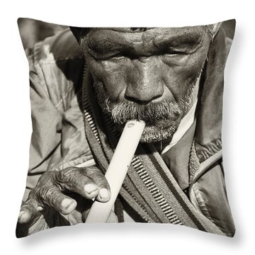 The Flute Throw Pillow by Skip Nall