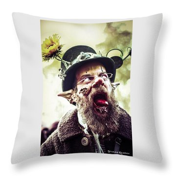 Throw Pillow featuring the photograph The Fool Goblin by Stwayne Keubrick