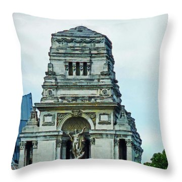 The Former Port Of London Authority Building Throw Pillow by Steve Taylor