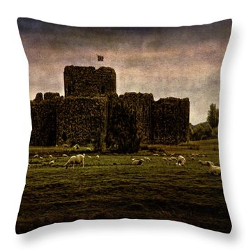 The Fortress Of Minas Morgul Throw Pillow by Chris Lord