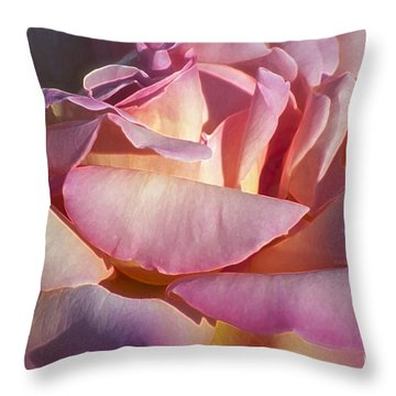 The Fragrance Throw Pillow by Gwyn Newcombe