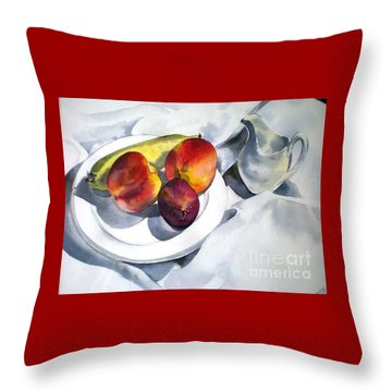 Throw Pillow featuring the painting The French Breakfast by Sandra Phryce-Jones