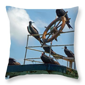 The Frigate Crew Throw Pillow