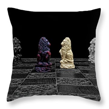 The Game Begins Throw Pillow by Doug Long
