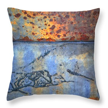 The Garbage Can Throw Pillow by Tara Turner