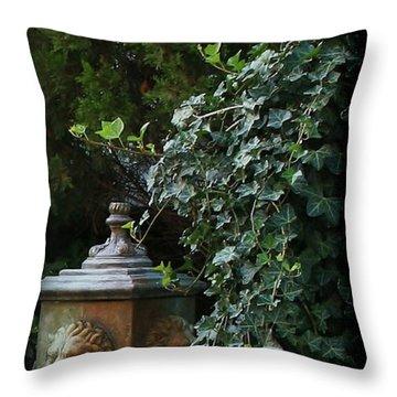 The Garden Throw Pillow by Karen Harrison