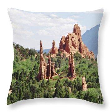 The Garden Of The Gods Throw Pillow