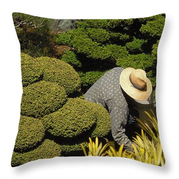 The Gardener Throw Pillow by Richard Reeve