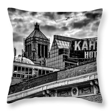 Throw Pillow featuring the photograph The Gathering Storm by Tom Gort