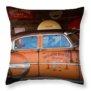 The Getaway Driver Throw Pillow by Benanne Stiens