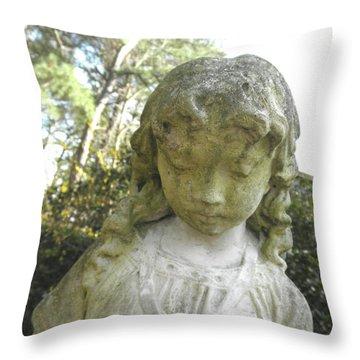The Girl In My Backyard Throw Pillow by Wayne Potrafka