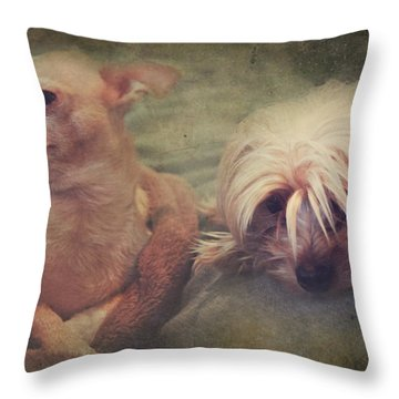 The Girls Throw Pillow by Laurie Search