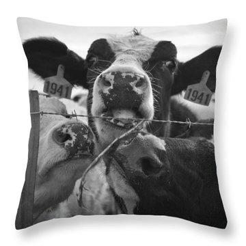 The Girls Throw Pillow
