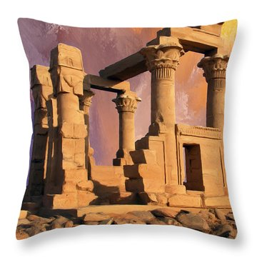 The Glory That Was Throw Pillow by Dominic Piperata