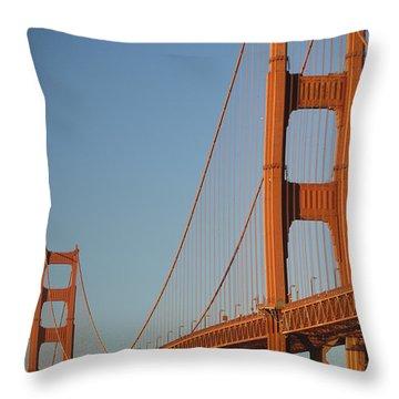 The Golden Gate Bridge At Dawn Throw Pillow by Axiom Photographic