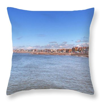 The Golden Mile Throw Pillow by Sarah Couzens