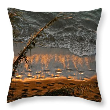 The Golden Moment IIi Throw Pillow by Kirsten Giving