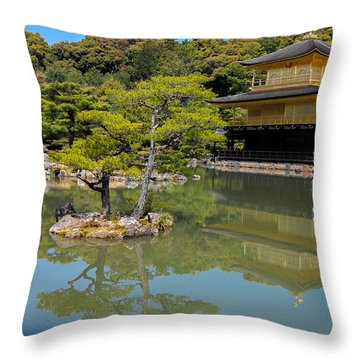 The Golden Pavilion Throw Pillow