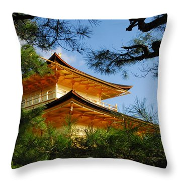 The Golden Temple Throw Pillow
