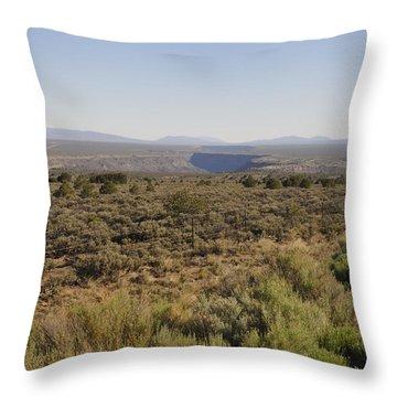 The Gorge On The Mesa Throw Pillow