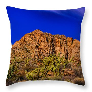 The Gorgeous Red Rock Canyon Throw Pillow
