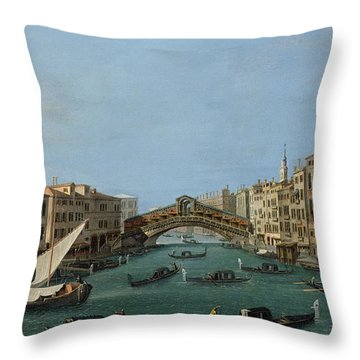 The Grand Canal Throw Pillow by Antonio Canaletto