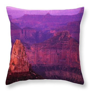 The Grand Canyon North Rim Throw Pillow by Bob Christopher