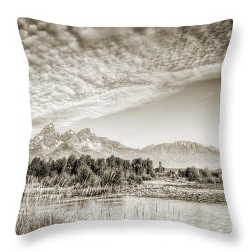 The Grand Tetons In Jackson Wyoming Throw Pillow