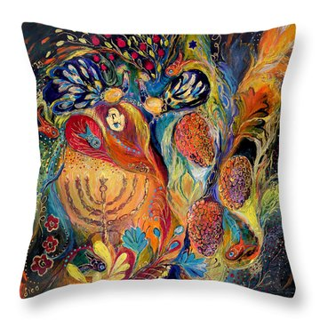 The Grapes Of Holy Land. The Original Can Be Purchased Directly From Www.elenakotliarker.com Throw Pillow
