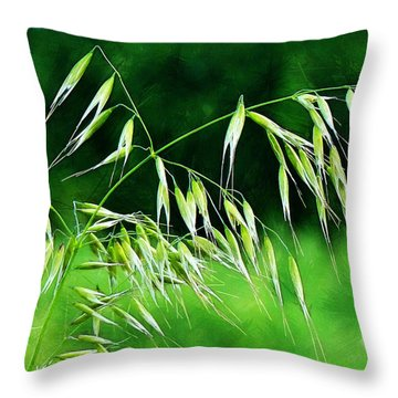 Throw Pillow featuring the photograph The Grass Seeds by Steve Taylor