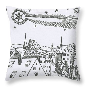 The Great Comet Of 1556 Throw Pillow by Science Source