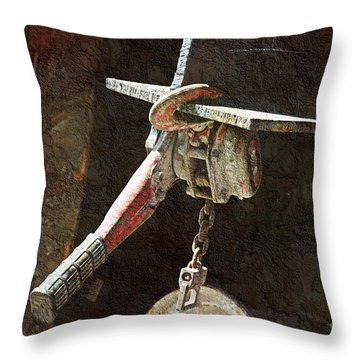 The Great Hoist Throw Pillow by Andee Design