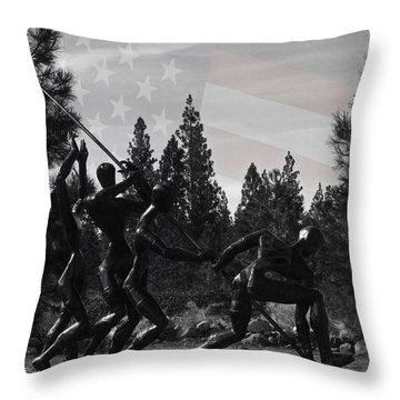 Throw Pillow featuring the photograph The Greatest Generation  by Larry Depee