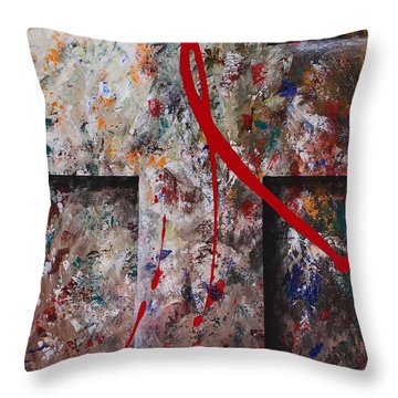 Throw Pillow featuring the painting The Greatest Love by Kume Bryant