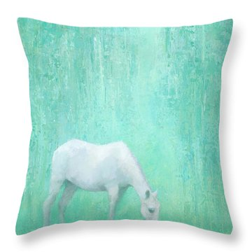 The Green Glade Throw Pillow